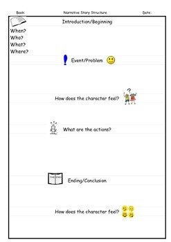 Visual Narrative Story Structure Printable