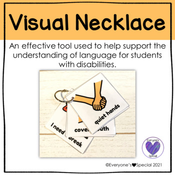Visual Necklace- A tool used to support the understanding of language.