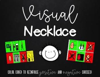 Visual Necklace - Perfect for Autism Classroom, Paraprofessionals, Life Skills