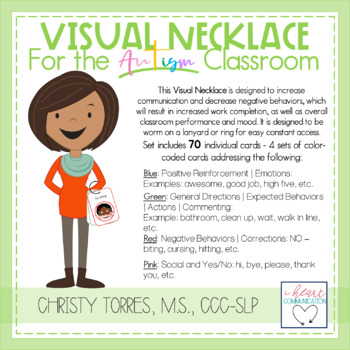 Visual Necklace for the Autism Classroom