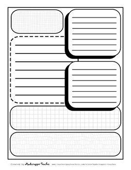 Visual Notetaking Printable Templates #3 for Visual Sketchnotes
