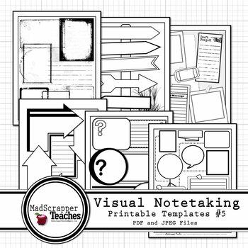 Visual Notetaking Printable Templates #5 for Visual Sketchnotes