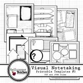 Visual Notetaking Printable Templates #6 for Visual Sketchnotes