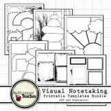 Visual Notetaking Printable Templates Bundle for Visual Sketchnotes