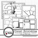 Visual Notetaking Printable Templates Bundle for Visual Sk