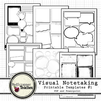 visual notetaking printable and editable templates 1 for visual