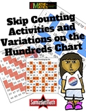 Visual Patterns on Skip Counting Hundreds Chart and Variations