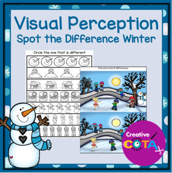 Visual Perception Spot the Difference Winter