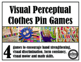 Visual Perceptual Clothes Pin Games