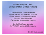 Visual Perceptual Tasks: Identical & Non-Identical Matching