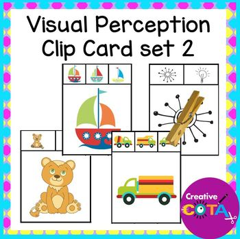 Visual Perception clip cards Set 2