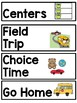 Pocket Chart Visual Picture Schedule: Adapted for Special Learners