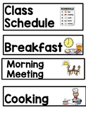 Pocket Chart Visual Picture Schedule: Adapted for Special
