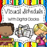 Visual Schedule Cards - Digital Clocks