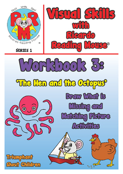 PRE-READING Visual Skills Series 1: Workbook 3 - Draw Missing Parts & Mazes