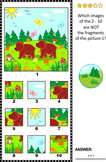 Visual Puzzle with Bear Cubs, Commercial Use Allowed