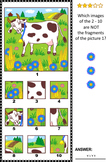Visual Puzzle with Milk Cow, Commercial Use Allowed