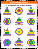 Visual Puzzle with Ring Stacker 2, Commercial Use Allowed