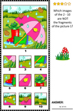 Visual Puzzle with Umbrella, Gumboots and Frog, Commercial