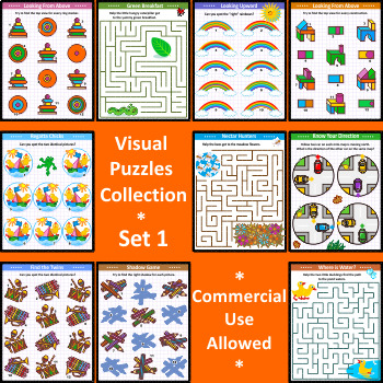 Visual Puzzles Collection, Set 1, Commercial Use Allowed