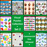 Visual Puzzles Collection, Set 2, Commercial Use Allowed