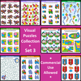 Visual Puzzles Collection, Set 3, Commercial Use Allowed