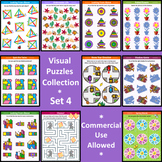 Visual Puzzles Collection, Set 4, Commercial Use Allowed