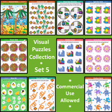 Visual Puzzles Collection, Set 5, Commercial Use Allowed