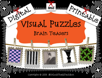 Visual Puzzles Illusions - 29 Brain Teasers - STEM Project - Team Building - GT