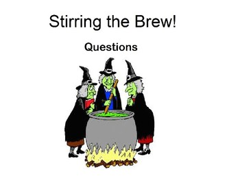 Visual Question Book To go with the story Stirring the Brew