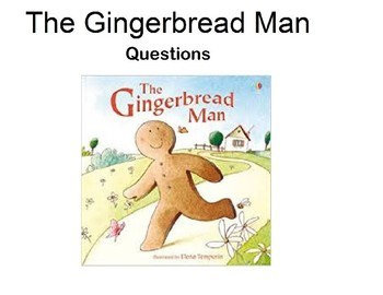 "Visual Question Book To go with the story ""The Gingerbread Man"""