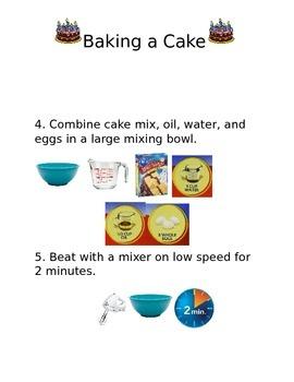Visual Recipe- Baking a Cake