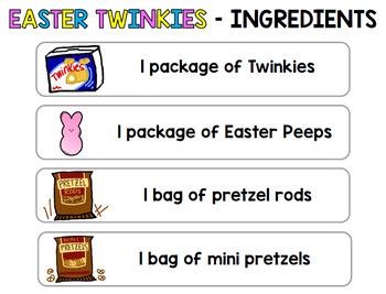 Visual Recipe - Easter - Twinkie Peeps Car - April - Autism - Life Skills