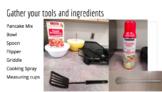 Visual Recipe Making Pancakes
