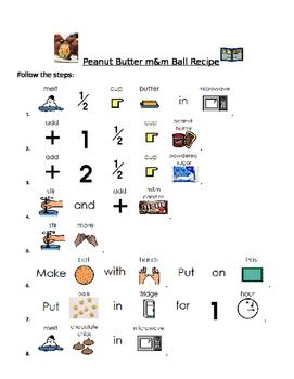 Visual Recipe: No Bake Peanut Butter M&M Balls