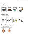 Visual Recipe- Pancakes Comprehension Worksheet