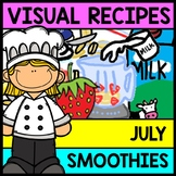 Visual Recipe - Summer - Smoothie - July - Autism - Life Skills - Special Ed