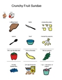 Visual Recipe for Crunchy Fruit Sundaes for students with autism