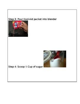 Visual Recipe for Kool-Aid Slushie