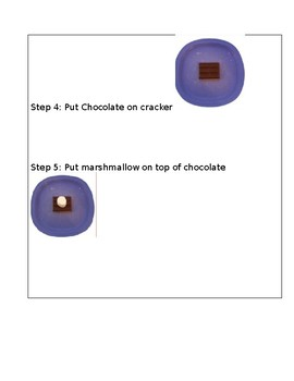 Visual Recipe for  Microwave S'mores