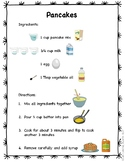 Visual Recipe for Pancakes with Comprehension