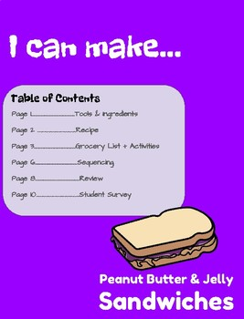 Visual Recipe for Peanut Butter & Jelly