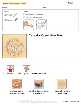 Six Visual Recipes for Youths with Autism/Special Ed Classroom - Mega Pack #1