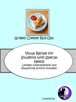 Visual Recipe for students with special needs: Grilled Cheese Roll Up