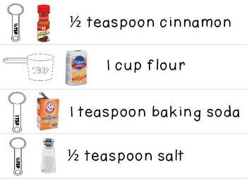 Visual Recipe for the Special Ed Classroom - Apple Bread