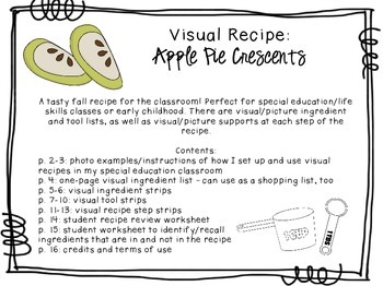 Visual Recipe For The Special Ed Classroom