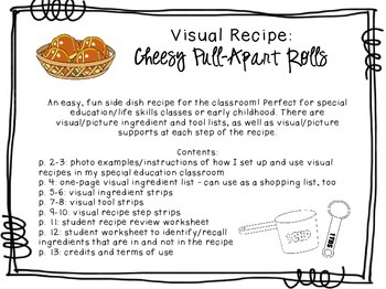 Visual Recipe for the Special Ed Classroom - Cheesy Pull-Apart Rolls
