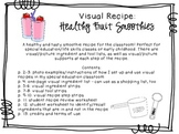 Visual Recipe for the Special Ed Classroom - Healthy Fruit Smoothies