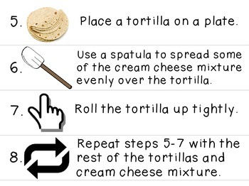 Visual Recipe for the Special Ed Classroom - Ranch Tortilla Pinwheels
