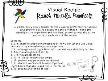 Visual Recipe for the Special Ed Classroom - Ranch Tortill